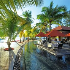 Sainte Anne Resort & Spa is spread along the island's pristine beaches. Located on a 200-hectare private island, the resort features a tropical Spa by Clarins and prides itself on excellent cuisine