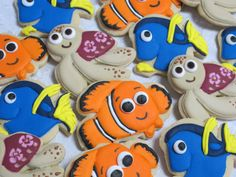 Finding Nemo Decorated Sugar Cookies by MartaIngros on Etsy, $24.00