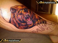 Angry Bear Tattoo