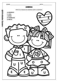 education - Green Math and Literacy Packet Print and Go! School Clipart, Letters For Kids, School Items, Little Learners, Pre School, Phonics, Coloring Pages, Colouring, Activities For Kids