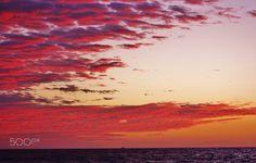 Amazing Sunset on the Pacific ocean beaches - Amazing Sunset on the Pacific ocean beaches, Santa Monica, California
