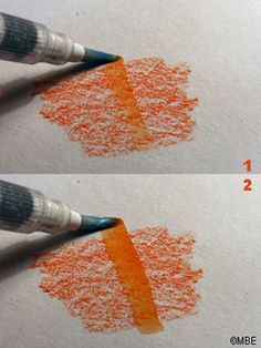 Follow These Steps to Use a Waterbrush: Turning Watercolor Pencil into Paint with a Waterbrush