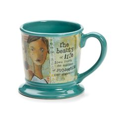 "This gorgeous mug featuring art by Kelly Rae Roberts says ""the beauty of life lives inside the smallest of moments (pay attention)."" :: The Beauty of Life Mug by Demdaco"