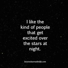 Lessons Learned in Life | The stars at night.