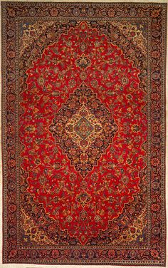 Najafabad Persian Oriental Rug for the living room.