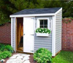 Slimline shed