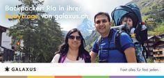 Backpacker: Ria in ihrer Babytrage von Galaxus #GalaxusLive #Galaxus Advertising, Live, Advertising Campaign