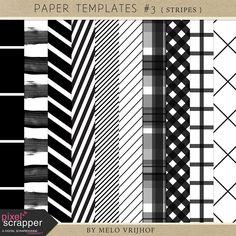 """Paper Templates - Stripes"" kit by Melo Vrijhof"