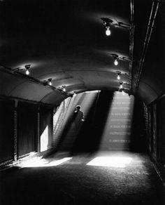 """Metro Exit"" - Paris - 1955 - photographer Sabine Weiss."