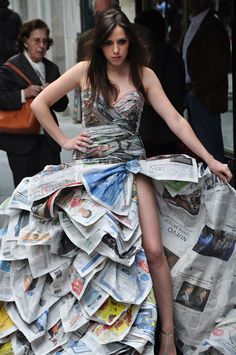How to Recycle: Newspaper Dresses