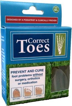 Correct Toes - Size M/L (MEN'S 11+) - Anatomical Toe Stretcher, Straightener, Separator  Bunion Corrector. Podiatrist Designed. Eliminate Bunions, Hammer Toe, Heel Spurs  Plantar Fasciitis. Fits In Shoes. Can Be Worn Walking. Helps Eliminate Foot  Leg Pain! by Northwest Foot  Ankle by Correct Toes. $65.00. Enhances balance and stability. (Suitable for yoga and running.). Improves strength, alignment, and flexibility of the toes and foot.. Designed by Dr. Ray...