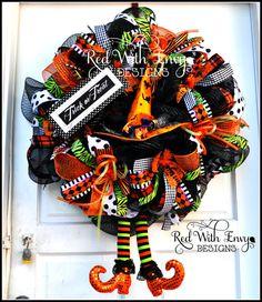 Halloween Wreath Halloween Wreath Halloween by RedWithEnvyDesigns, $155.00