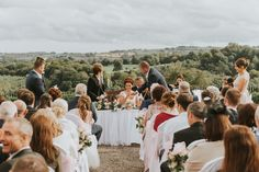 Malone House outdoor ceremony Belfast Wedding Photographer Pure Photo N.I signing