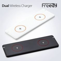FREEDY Dual Wireless Charger for Qi Enabled Smartphones and Tablets- Retail Packaging - White: Cell Phones & Accessories #Qi #Qiwireless #Qiwirelesscharger #freedy #freedywireless #wireless #wirelesscharging #wirelesscharger #madeinkorea #korea