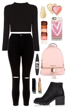 """""""Talking way to much"""" by tigerlily789 ❤ liked on Polyvore featuring New Look, River Island, MICHAEL Michael Kors, Casetify, Maybelline, Chanel, NYX and Too Faced Cosmetics"""