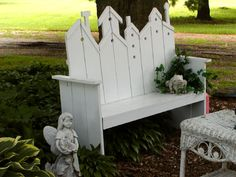 wood craft ideas (birdhouse bench) - I made a bench from this pattern really a cool bench...