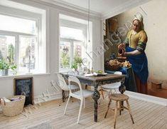 Vlies fotobehang Het Melkmeisje - Vermeer