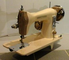 Here's a nice old Brother straight-stitch machine, made back when pride in your product was a component of manufacturing.