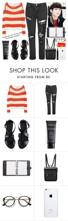 """""""In the Studio with Jung Kook"""" by evil-maknae ❤ liked on Polyvore featuring Burberry, Glamorous, H&M, LORAC, Mulberry and The Cambridge Satchel Company"""