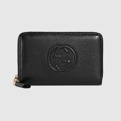 Soho leather zip around wallet