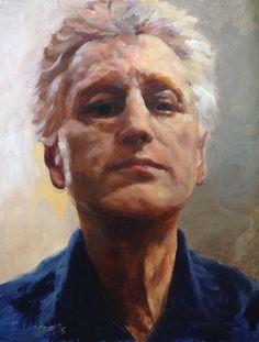 """Self-portrait, by Cyprian Libera, oil on hardboard, 11 x 14"""""""
