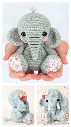 Free Crochet, Crochet Hats, Step By Step Crochet, Learn To Crochet, Free Pattern, Crochet Patterns, Elephant, Homemade, Amigurumi