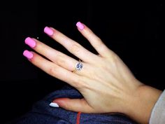 Pink Friday by OPI with matte on the thumb and ring finger. Such a playful and chic look at the same time!