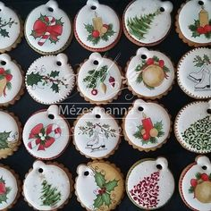#christmas #cookies #gift #handpainted #mini