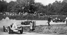 GP France (ACF) 1934 , Alfa Romeo P3 #12 Driver Louis Chiron followed Mercedez Benz W25 #30 Driver Luigi Fagioli