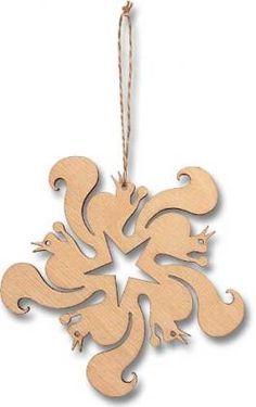 Circle of Squirrels Laser-cut Ornament