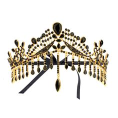 URSULA. GOLD CRYSTAL CROWN ❤ liked on Polyvore featuring accessories, hair accessories, jewelry and crown