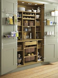 Magnificent Traditional Kitchen by Yorkshire And The Humber Kitchen Designers & Remodelers Holme Design The post 10 Kitchen Pantry Ideas for Your Home appeared first on Interior Designs . Kitchen Pantry Design, Kitchen Organization, New Kitchen, Kitchen Decor, Kitchen Ideas, Kitchen Hacks, Organization Ideas, Awesome Kitchen, Country Kitchen