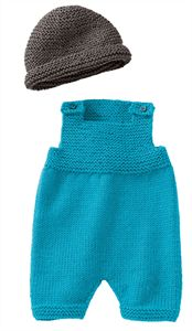 Babies Knitting Patterns Playsuit & Hat Kit Calanque/Elephant 309.561