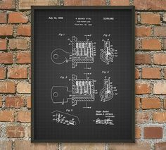 Pick-Proof Lock Patent Wall Art Poster by QuantumPrints on Etsy