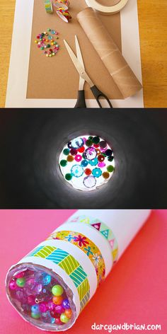 Fun DIY Kaleidoscope Kids Craft Tutorial [Pictures] Looking for a fun kids project? Inspire creativity with this easy homemade kaleidoscope craft using Paper Towel Crafts, Paper Towel Tubes, Cardboard Crafts, Easy Fall Crafts, Fall Crafts For Kids, Crafts To Make, Kids Crafts, Fun Projects For Kids, Classroom Art Projects