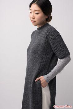 Длинная туника с разрезами Truss от дизайнера Shellie Anderson из SHIBUI KNITS, спицами - Вязание - Страна Мам