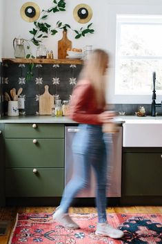 From retro minty green to dramatic dark forest green, the color looks at home in kitchens, bathrooms, living areas, and bedrooms, as well as on walls, tile, and all sorts of decor. #greenpaintcolors #homecolorschemes #greenpaintideas #accentwalls #bhg