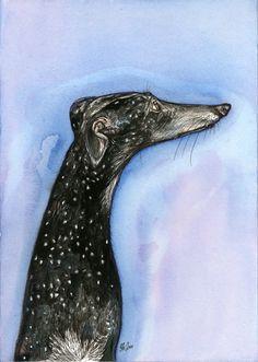 The Perfect Dream- Greyhound Art Dog Print by AlmostAnAngel66