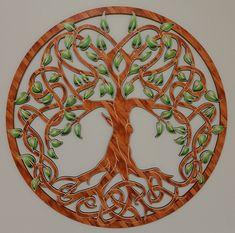 Baum des Lebens aus Holz Lebensbaum mit Deko Folie als Wand Deko Wohnzimmer Deko  Geschenkidee Dekoration