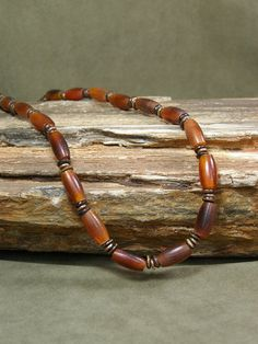 Mens Necklace  Mens Jewelry  Horn Beads  by StoneWearDesigns, $48.00