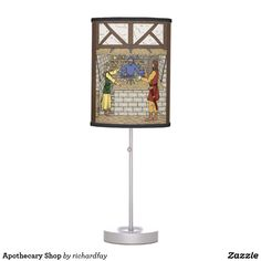 Apothecary Shop Desk Lamp.  Sunday Steal: 50% Off Dry Erase Boards, Clipboards & Desk Lamps USE CODE: ZSUNSTEAL182 Offer is valid through June 11, 2017 11:59PM PT.  #Zazzle #Sunday_steal #desk_lamp #table_lamp #lamp #fantasy_apothecary_shop #magical_apothecary_shop #apothecary_shop #apothecary #fantasy_art