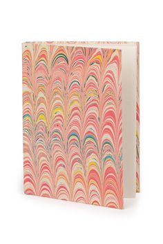 Blank Journal With Handmade Cover - Happy Thoughts Journal - Fair trade product - pink gift idea - Marbleized cover - Made by women artisans