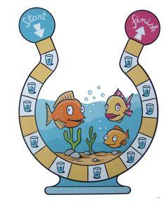 Het idee is van confetti....maar is een beetje veranderd; wie heeft bij de finish het meeste water in zijn emmertje?