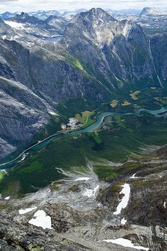 View from #Trollveggen by ScenicMotion #Norway