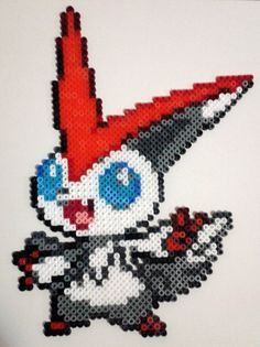 Victini - Pokemon perler beads by isaletheia