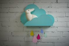 shelf rack for kids room cloud Up in the sky by upwarsaw on Etsy Cloud Shelves, Kidsroom, New Room, Baby Room, Little Ones, Shelving, Pottery, Clouds, Etsy