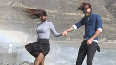 Isabella Richardson-Poole, of Australia and Matthew Baker, of Alexandra, struggle in the winds in Clyde. Windy Weather, Windy Day, Wind Skirt, Blown Away, Cloaks, Tsunami, Storms, Mud, Harem Pants