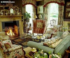Eye For Design: Decorate Your Home In English Style (english cottage fireplace) English Cottage Interiors, English Cottage Style, English Interior, English Country Style, English Decor, French Country Living Room, French Country Decorating, English Cottages, French Cottage