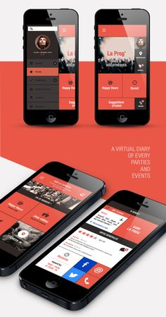 Up&Bar / App Project by Noriane Rozales, via Behance