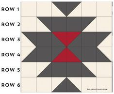 A free pattern for a Squash Blossom Quilt. A tutorial to make a simple southwest style quilt. A great quilt pattern for a beginning quilter. Free quilting patterns and tutorials Vintage Quilts Patterns, Quilt Square Patterns, Barn Quilt Patterns, Patchwork Quilt Patterns, Quilting Patterns, Half Square Triangle Quilts, Square Quilt, Southwestern Quilts, Southwest Style